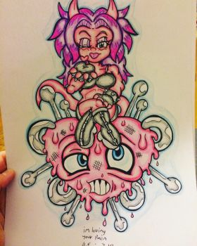 Inked and colored  by skullpunk666girl
