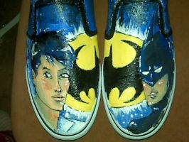 Batman Shoes by oober-zombie