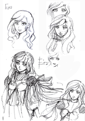 Quick Sketch - Eira Seolfor by BunnyVoid