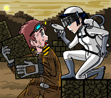 Eve surprises wall-e by PurpleRAGE9205
