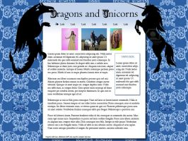 Dragons and Unicorns Layout by RobynSmaleBeorg