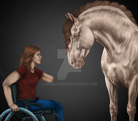 *Meeting the wheelchair* by EddieLover