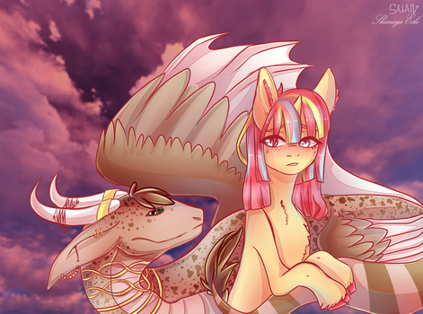 Rescued by Dragon [Collab] by ShimayaEiko