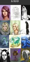 Daily doodles 2013-3 by Lysandr-a