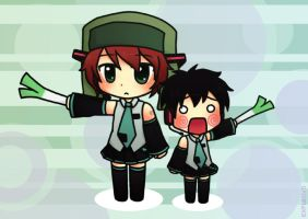 Hatsune Kyle + Hachune Ike by EXPL0SIVO