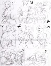 ACEO YCHs 44 through 51 by nickyflamingo