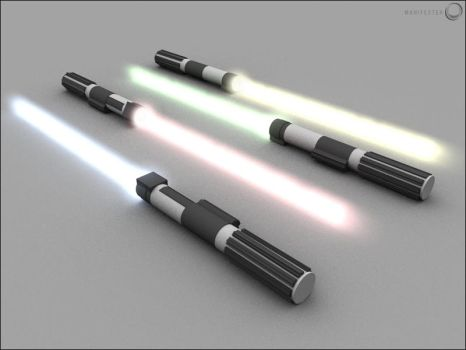 Lightsaber With Glow by manifest3r
