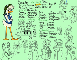 Louie Duck (Team Avatar) by GinYang