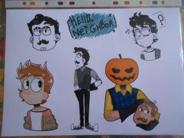 Hello, neighbor stickers by ASRussia