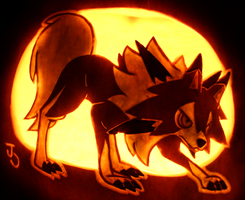 Midday Lycanroc Pumpkin by johwee