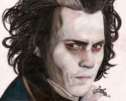 Johhny Depp as Sweeney Todd by JohanaJ