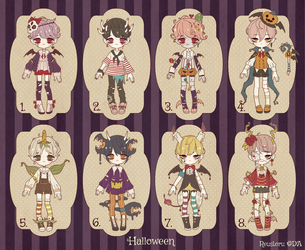 {CLOSED} Adoptable Set Price 05: Weird Halloween by Reusoru