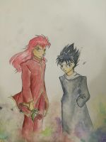 Hiei and Kurama by chexie101