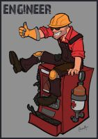 TF2 Engineer by Liabra
