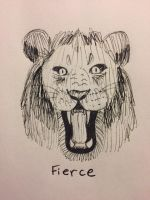 Inktober Day 14: Fierce by Panolli