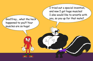 Geoffrey Shows Knuckles His Buffed Body by NitroactiveStudios