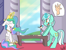 Tea Time with Lyra (Commission) by BefishProductions