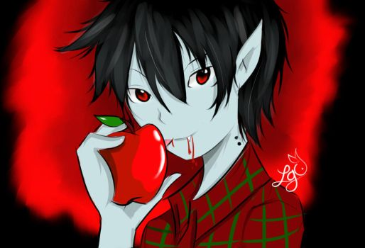 Marshall Lee from Adventure Time by RedVelveto
