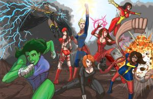 Marvel's A-force by darlinginc