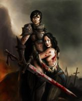 DA2: Bethany and Marian Hawke by CELENG