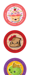 Hohoemashii Buttons! by GregEales