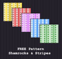 FREE DOWNLOAD - Shamrocks + Stripes Pattern by PointyHat