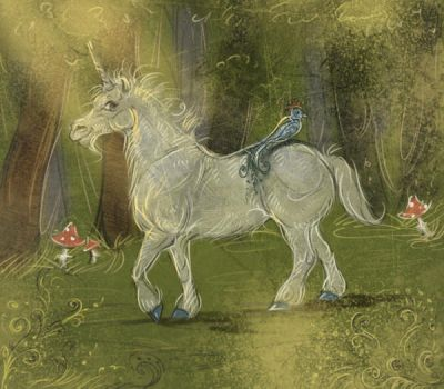 The Master in his Forest by Araxel