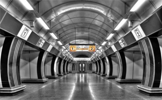 Prague - Underground Station by pingallery