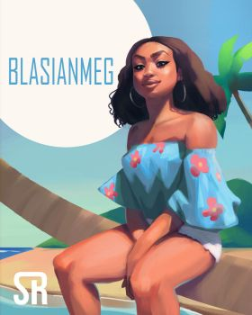 blasian girl by Messiah972