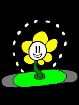 Flowey (post-it note drawing) color by SailorMewHeart1