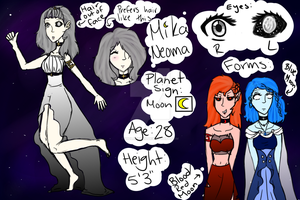 [Space OC Ref] The Moon by VioletTides