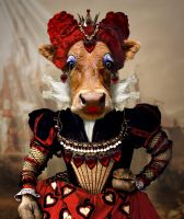Bovine Queen of Hearts by ravenscar45