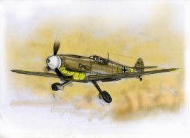 Bf 109 G2 Afrika Korps by grievous15