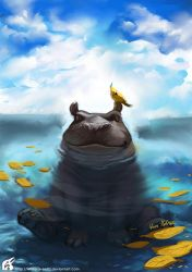 Happy Hippo by WhiteRaven90