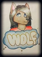Wolf by Pinkwolfly