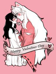 [VALENTINES SKETCHES] Inukag_ Inuyasha by MMHinman