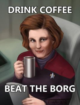 Drink coffee, beat the Borg by Scethdra