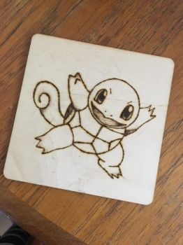 Squirtle pyrography  by Blindfaith-boo