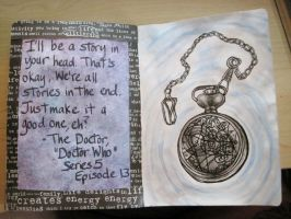 Sketchbook Project 2012 - pages 12-13 by Gothscifigirl