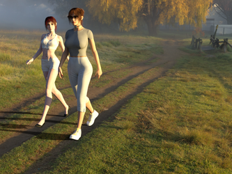 Michelle Godfrey and Rachel - Let's go for a walk! by MasterWayZ