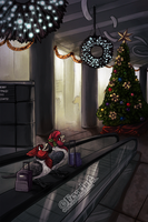Christmas at Toronto Pearson by Eevachu
