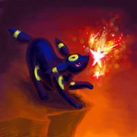 Umbreon Used Wish by naturalradical