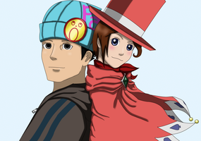 Trucy and Phoenix by Stoofpot