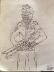 Soldier 76 Sketch by DoctorPeguin