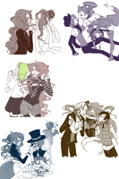 Valentine doodles by Asuka-Yousei