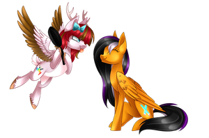 Berry Blossom and Sunrise Wings [Art Trade] by Scarlet-Spectrum