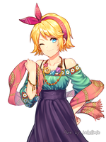 Kagamine Rin repainting by kthelimit