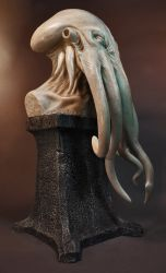 The Key of Cthulhu, Cold Cast Marble by JoynerStudio