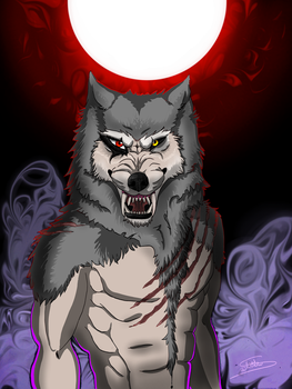 The Blood Moon of the Werewolf by ChaokiEvery