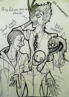 [OC Creepypasta]-A typical day in their company... by EvilOvoshch